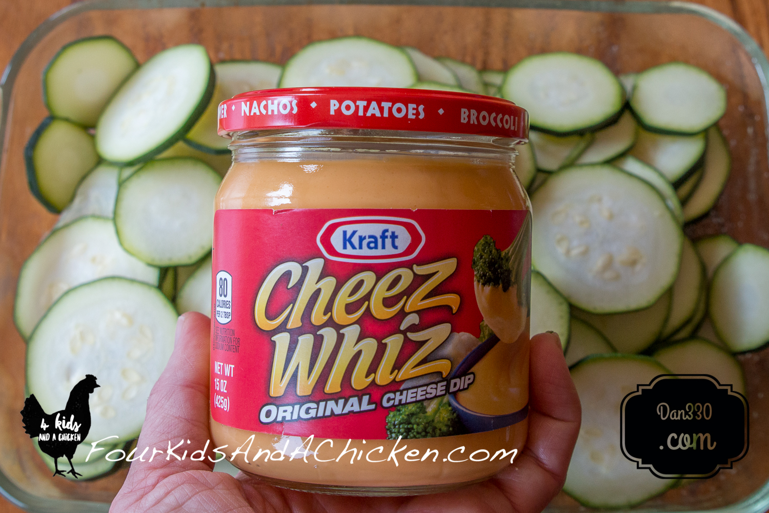 Cheese Whiz for Baked Zucchini Casserole